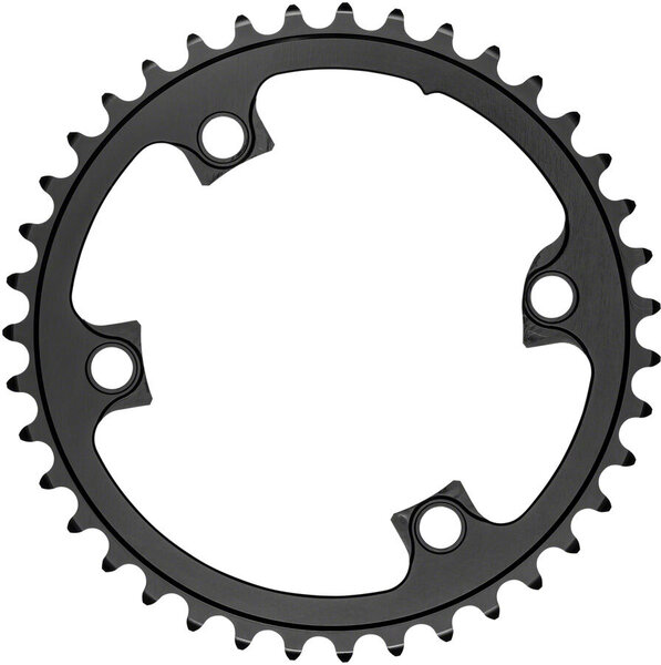 absoluteBLACK Premium Round 110 BCD 4-Bolt Road Inner Chainring for Shimano R9100/8000/7000 Color: Black