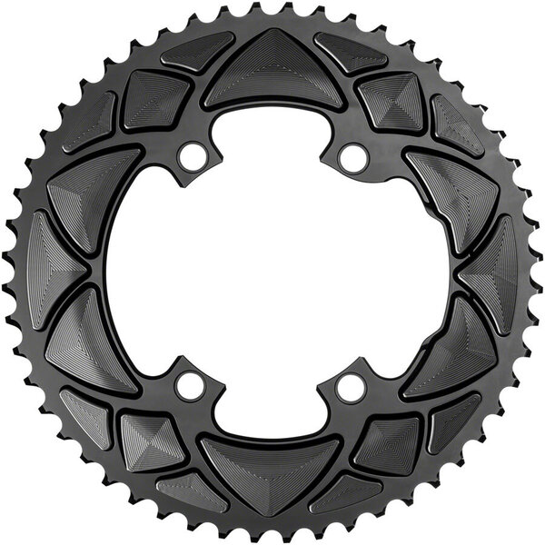 absoluteBLACK Premium Round 110 BCD 4-Bolt Road Outer Chainring for Shimano R9100/8000/7000
