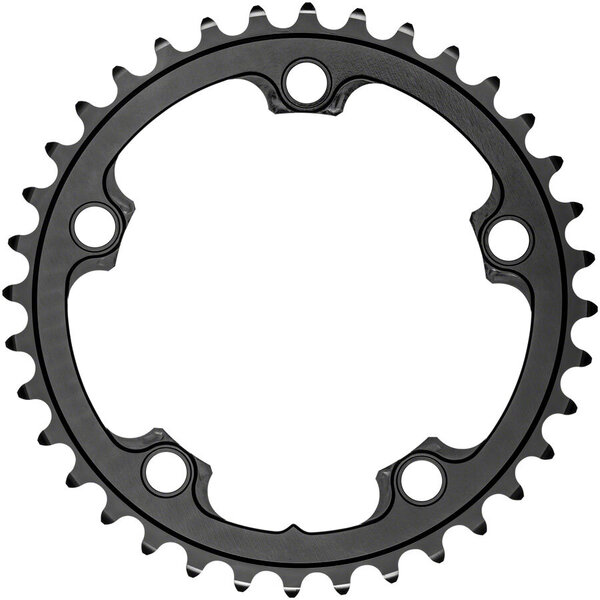 absoluteBLACK Premium Round 110 BCD 5-Bolt Road Inner Chainring Color: Black