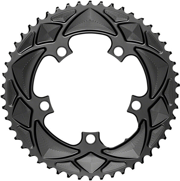 absoluteBLACK Premium Round 110 BCD 5-Bolt Road Outer Chainring Color: Black