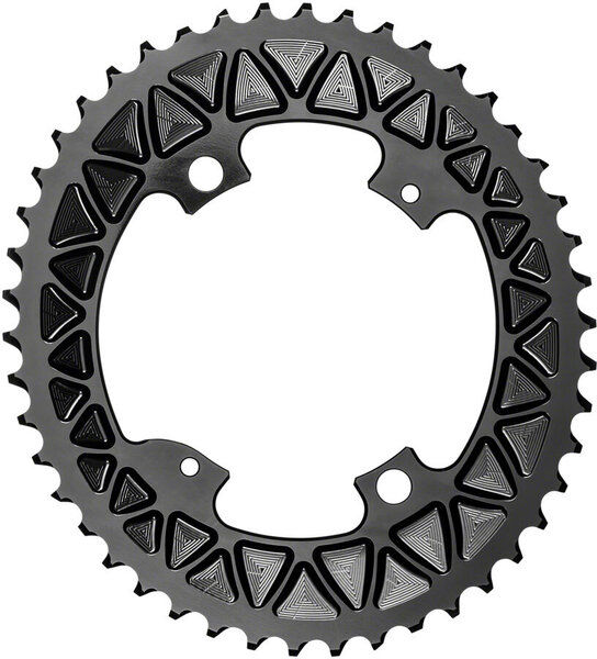 absoluteBLACK Premium Sub-Compact Oval 110 BCD 4-Bolt Road Outer Chainring Color: Black