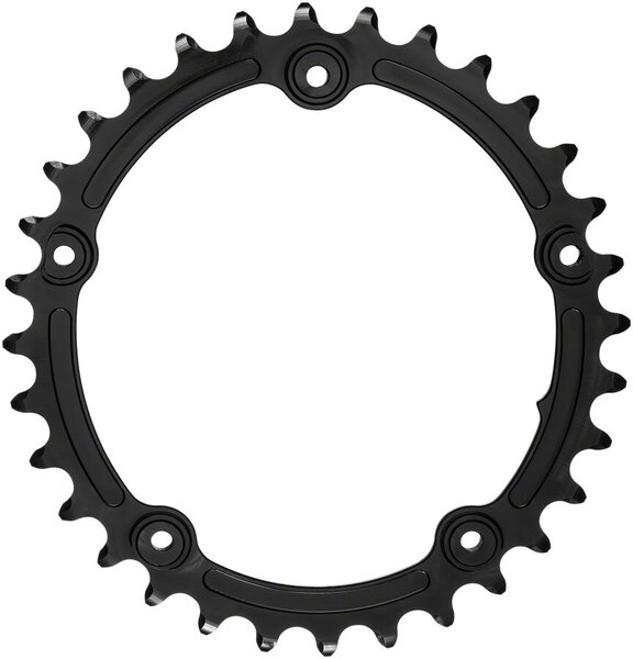 absoluteBLACK Premium Sub-Compact Oval 110 BCD 5-Bolt Road Inner Chainring Color: Black