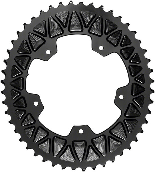 absoluteBLACK Premium Sub-Compact Oval 110 BCD Road Outer Chainring Color: Black