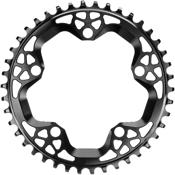 absoluteBLACK Round 110 BCD 5-Bolt CX Chainring Color: Black