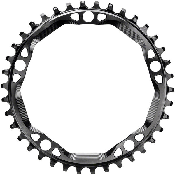 absoluteBLACK Round 130 BCD 5-Bolt CX Chainring Color: Black