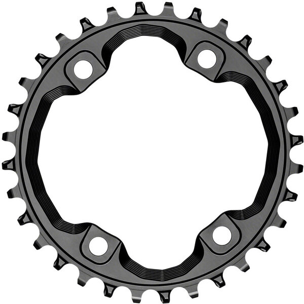 absoluteBLACK Round 96 BCD Asymmetric Chainring for Shimano XT M8000/SLX M7000 Color: Black
