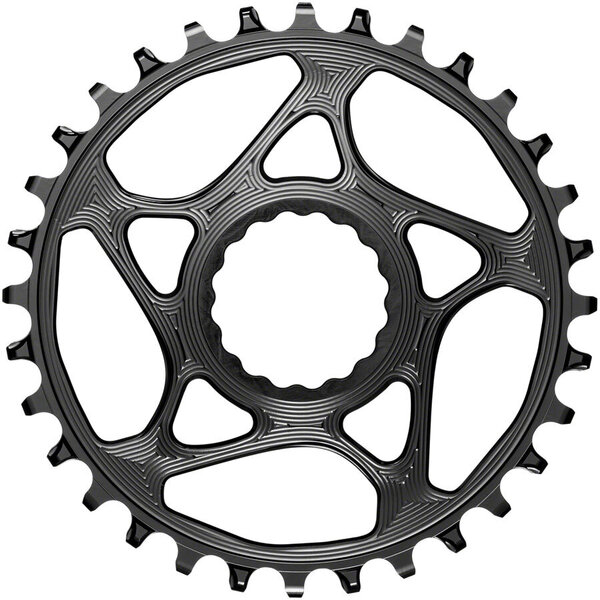absoluteBLACK Round Direct Mount Chainring for CINCH Color: Black