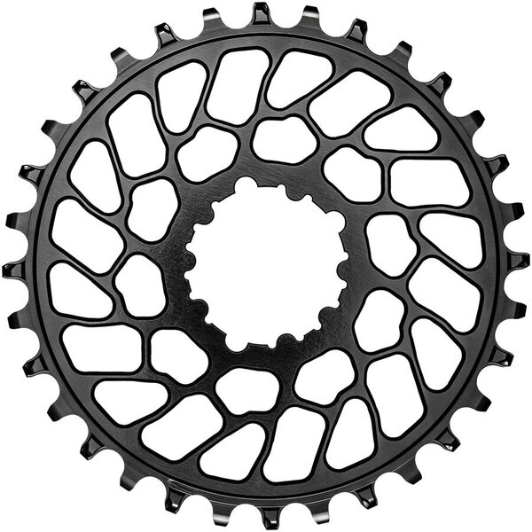 absoluteBLACK Round Direct Mount Chainring for SRAM 3-Bolt 0mm Offset Color: Black