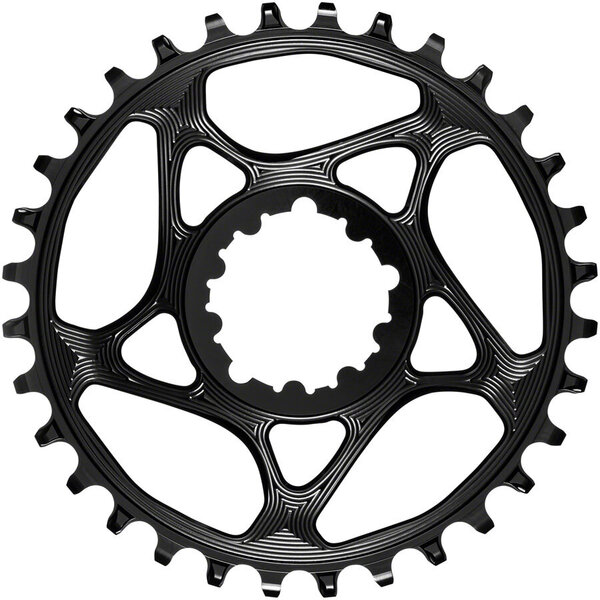 absoluteBLACK Round Direct Mount Chainring for SRAM 3-Bolt 3mm Offset Color: Black