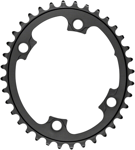 absoluteBLACK Silver Series Oval 110 BCD 4-Bolt Inner Chainring Color: Gray