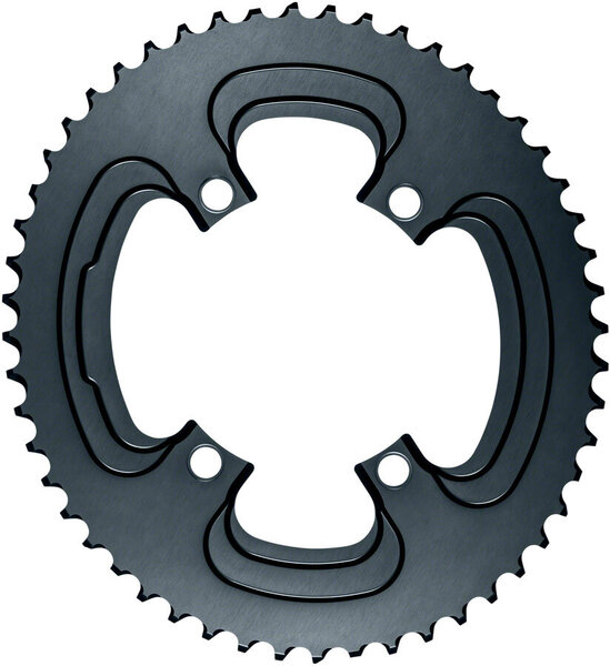 absoluteBLACK Silver Series Oval 110 BCD 4-Bolt Outer Chainring Color: Gray