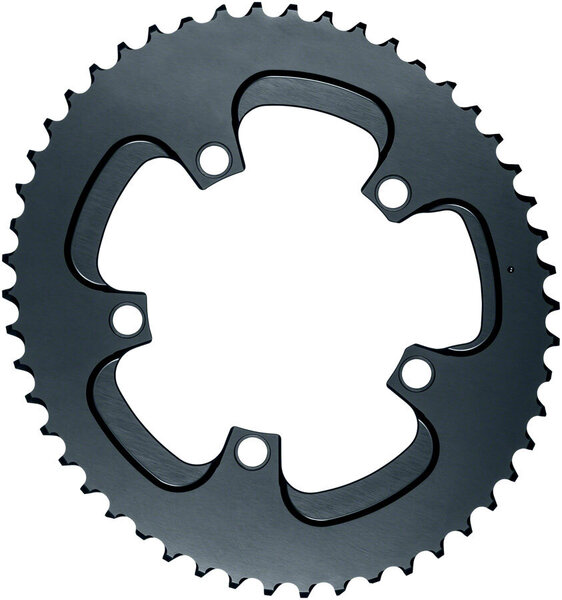 absoluteBLACK Silver Series Oval 110 BCD 5-Bolt Outer Chainring Color: Gray