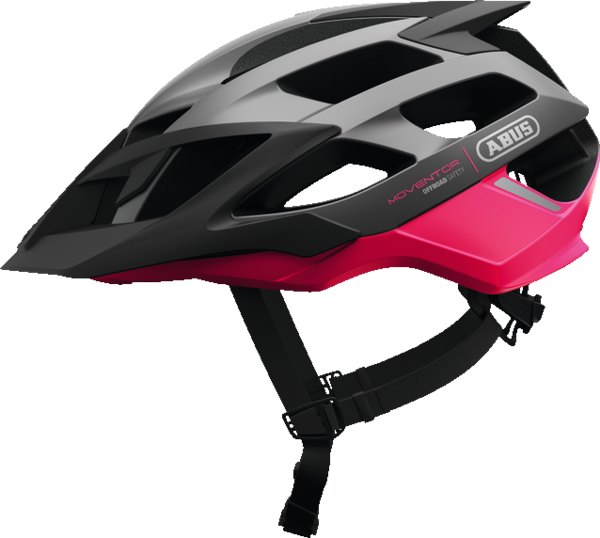 ABUS Moventor Mountainbike Helmet Color: Fuchsia Pink