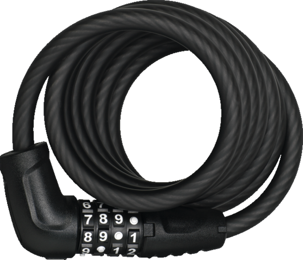 ABUS Numero 5510 Spiral Cable Lock Color: Black