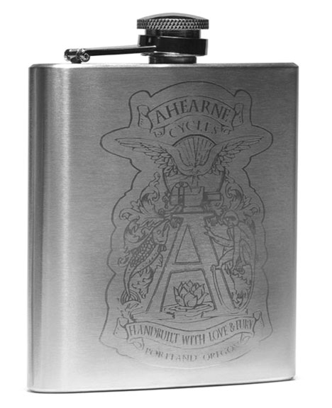Ahearne Cycles Spaceman Bicycle Flask Color: Stainless