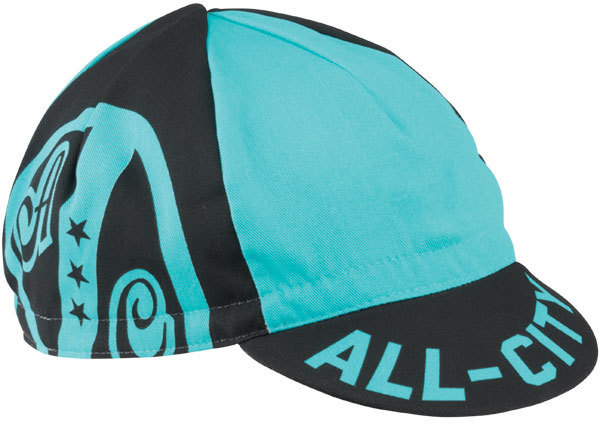 All-City AC Shield Cycling Cap Color: Black/Blue