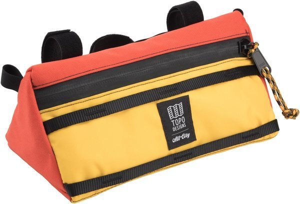 All-City All-City X Topo Designs Handlebar Bag Color: Orange/Yellow