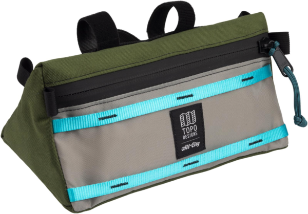 All-City All-City x Topo Bike Bag Color: Blue/Green/Gray