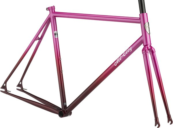 All-City Big Block Frameset Color: Pink Fade