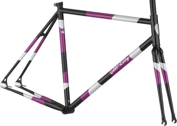 All-City Big Block Frameset Color: Midnight/Frost/Violet
