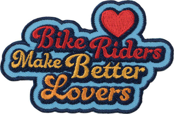 All-City Bike Riders Make Better Lovers Patch Color: Blue/Multi-Color