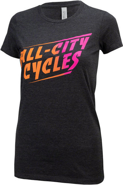 All-City Cali Fade T-Shirt Color: Gray/Orange/Pink