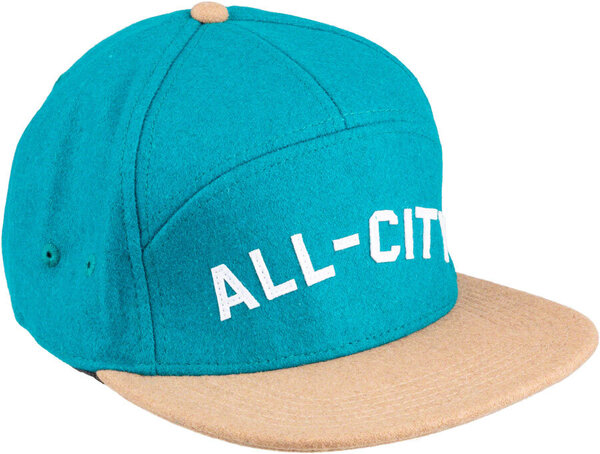 All-City Chome Dome 3.0 Cap Color: Cyan/White