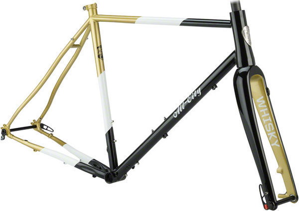 All-City Cosmic Stallion Frameset Color: Black/White/Gold