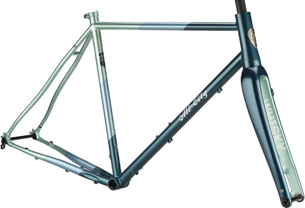 All-City Cosmic Stallion Frameset Color: Blue/Green Stripes