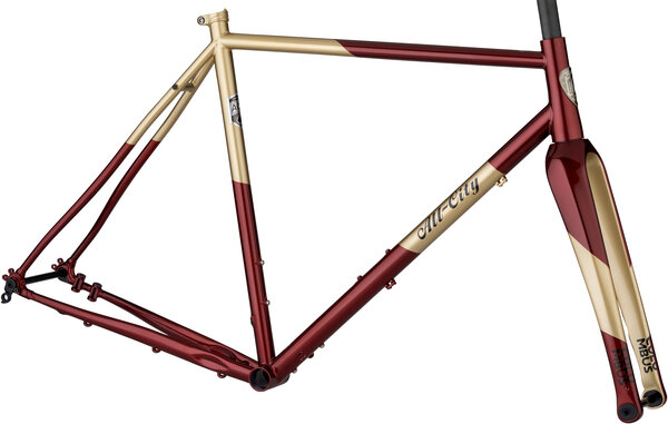 All-City Cosmic Stallion Frameset Color: Currant and Cream