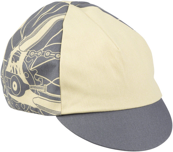 All-City Damn Fine Cycling Cap Color: Gray/Khaki