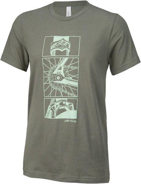 All-City Damn Fine Men's T-Shirt Color: Military Green