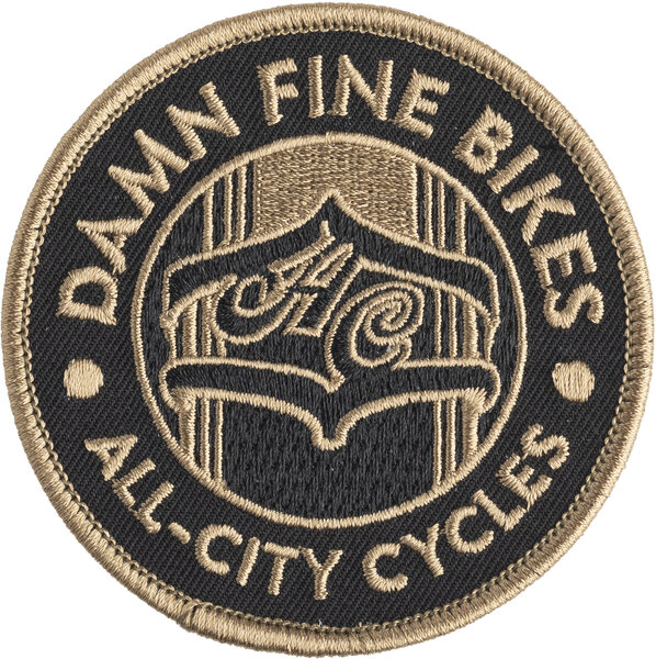 All-City Damn Fine Patch Color: Black/Gold