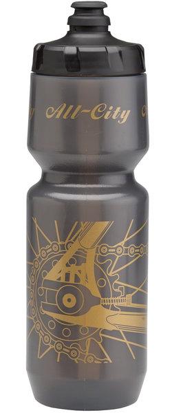 All-City Damn Fine Bottle Color: Sliver/Black/Gold