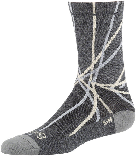 All-City Damn Fine Socks Color: Charcoal/Khaki/Sage Green