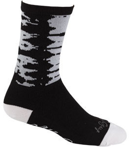 All-City Darker Wave Socks Color: Black/White