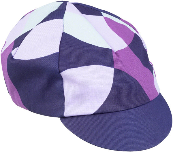 All-City Dot Game Cycling Cap Color: Dark Purple/Purple/Lavender/Lite Blue