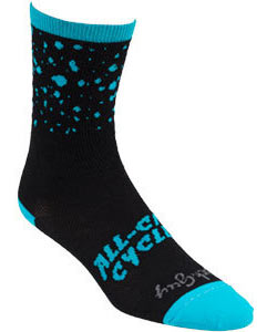 All-City Electric Boogaloo Sock Color: Black