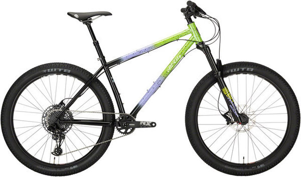 All-City Electric Queen NX Eagle Color: Blue/Lime w/Splatter