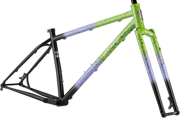 All-City Electric Queen Frameset Color: Blue/Lime w/Splatter
