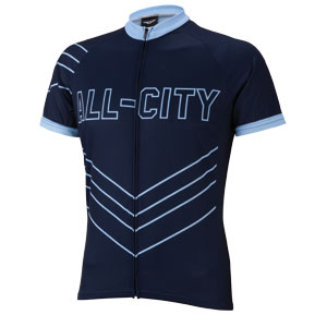All-City Chevron Jersey Color: Black/Blue
