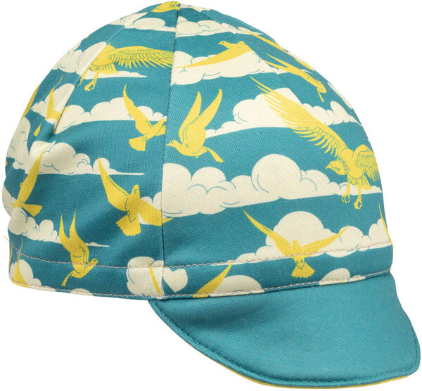 All-City Fly High Cycling Cap Color: Teal/Gold
