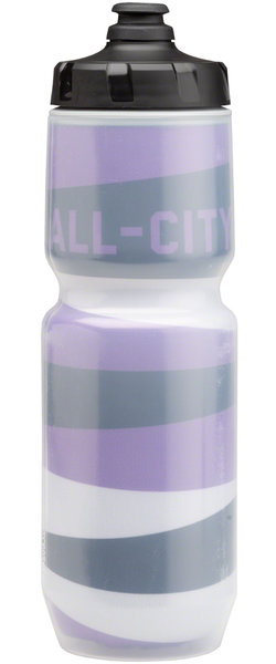 All-City Full Block Insulated Bottle Color: Black/Purple/Silver