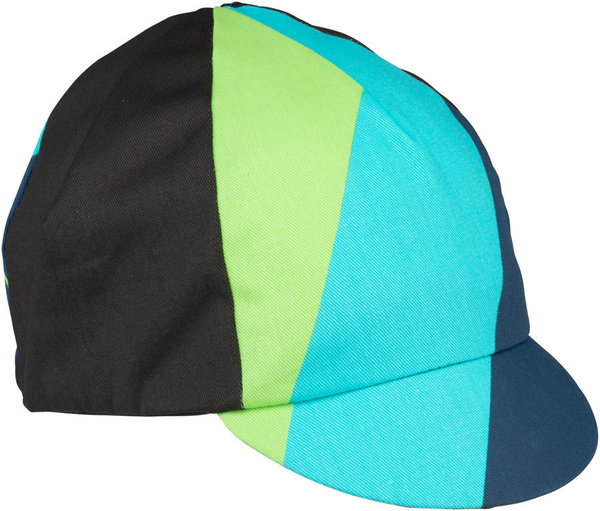 All-City Interstellar Cycling Cap Color: Black/Blue/Green/Turquoise