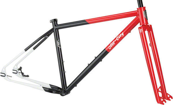 All-City Log Lady Frameset Color: Red/Black/White