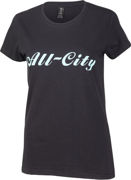 All-City Logowear T-Shirt Women's Color: Black/Teal