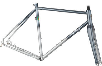All-City Macho King Frameset Color: Silver/White