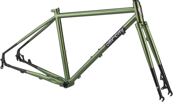 All-City Macho Man Frameset Color: Olive Fab