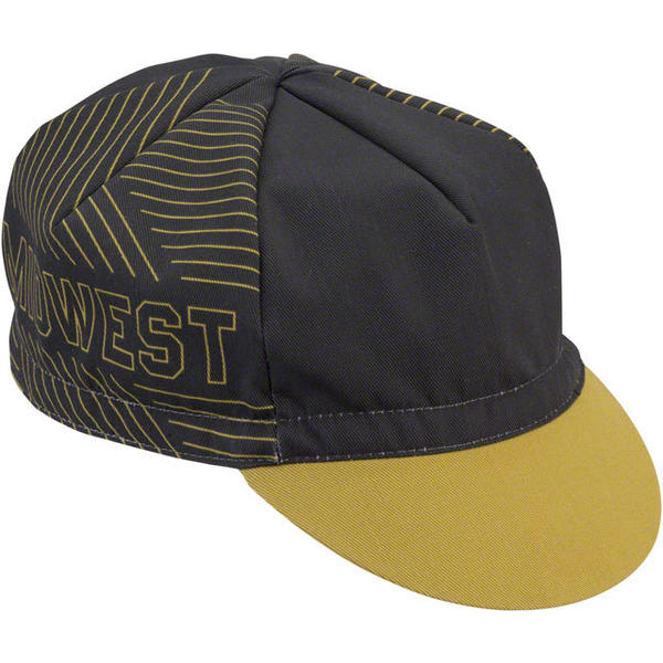 All-City Midwest Cycling Cap Color: Gold/Black