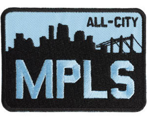 All-City MPLS Patch Color: Blue/Black
